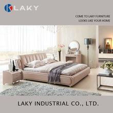 LK-LB104 modern fashion purple round leather bed
