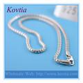venta al por mayor joyería de plata tailandesa 925 de plata esterlina de la cadena del rodillo