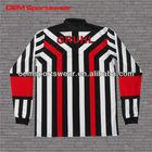 Custom long sleeve polo shirt with vertical stripe