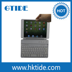 convenient bluetooth keyboard leather keyboard case powerful magnetic clips for ipad mini