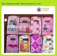 wholesale Custom logo plastic gift bag,lovely printing gift bag for gift shop