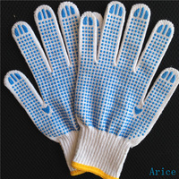 cotton work gloves with pvc dot,china supplier