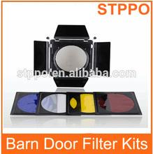 200mm With Honey Comb Barndoor Light Barn Door Filter Kits