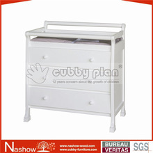 Cubby Plan Modern Baby Furniture Set Chest with Drawer Wooden Baby Changing Table