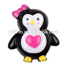 W0404138 Sweet 30*26mm Cartoon Penguin Cabochon Animal with Heart Bow Kawaii Cabochon Hot Sale