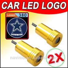 car Ghost Shadow Light LED for Dallas Cowboys NFL Laser Welcome Door Light Badge Logo 3D 12V 5w golden