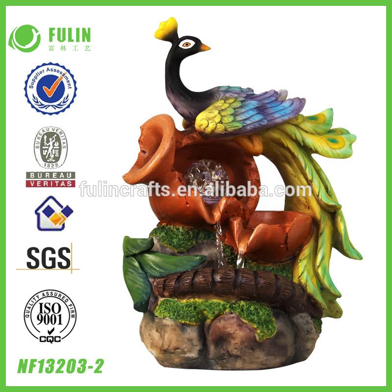 mini jardim oriental:Mini Oriental resina rústico jardim fonte China( continente)