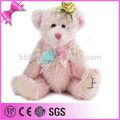 heißer verkauf rosa teddybär plüsch spielzeug für mädchen