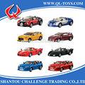 Promocional de brinquedos de estrada champs 1:43 escala pull back metal diecast modelo do carro de brinquedo com luz