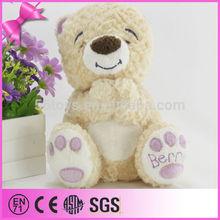 OEM/ODM cute design style handclap plush smiling bear