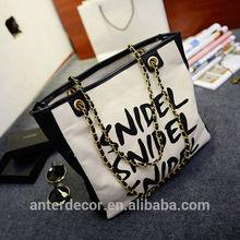 pu and canvas tote women handbag