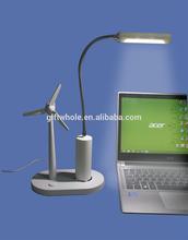 soft blade fan light 2.5W 10 LED USB lamp