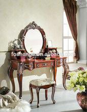 muebles de dormitorio clásico estilo francés antiguo diseño de madera mesa de vestir