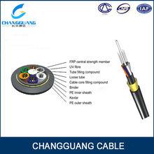 multi core fiber optic cable,ADSS optical fiber cable/12 core single mode fiber optic cable,24/144 Cores/Single Module G.652D