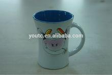 custom nice shape with sublimation print ceramic mug
