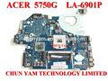 Venta al por mayor mb. Raz02.002 la-6901p mbraz02002 para acer como 5750 5750g portátil notebook placa base la placa del sistema original de nuevo
