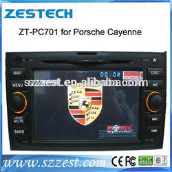ZESTECH China wholesale lcd touch screen gps oem 2 din car head unit for porsche cayenne sat nav