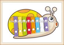 cartoon animal 8 tones musical instrument knock toy mini xylophone