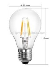A19/60 LED filament bulb high lumen flux Factory direct sale 110lm/w-120lm/w warm white