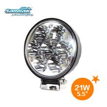 4inch 21w round auto led head lamp, led auto spot light, headlight for cars