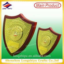 Shiny gold buddha wall plaques metal cast christmas wall plaque