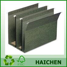 "Hanging Box Bottom Folder - 3"" Exp - 3"" Cap - 25/Box - 11 pt- Green"