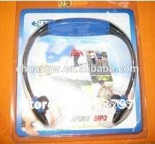 fashion sports wireless headphone earphone mp3 player portable mp3