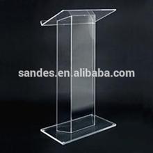 Cheap Acrylic Podium Glass Pulpit For Church Lucite School Platform