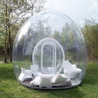 Clear inflatable lawn tent for outdoor