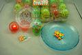 Plastic elétrica ovo de luz iluminação brinquedo doces