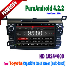 """Pure android 8"""" HD toyota rav4 can bus dvd player for toyota rav4 year 2013 with GPS IPOD WIFI"""