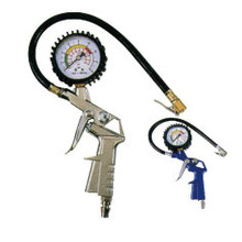 Gun type compressed tyre inflator