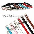 Yoyopet alta qualidade couro coleira para cães 6 pco-gb1 cores