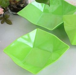 Food grade PP colorful plastic fruit plate-15cm