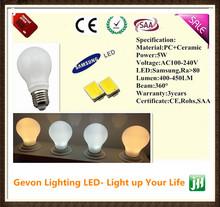 New Samsung SMD 360 degree 5w led light bulbs canada