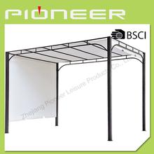 Flat roof wrought iron gazebo,tent for garden and outdoor gazebo