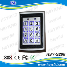 HSY-S208 smart card reader keyboard with wiegand interface