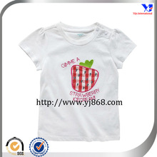 100 cotton embroidery design baby t shirt with snapper shoulder