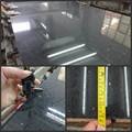 Cuarzo negro de la losa, chino de mármol artificial, negro de cristal de piedra de cuarzo