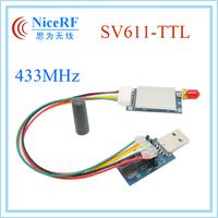 Excellent performance 20dBm TTL interface 433MHz SV611 Silicon Lab Si4432 RF