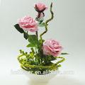 beleza da flor pote rosa para a decoração do casamento