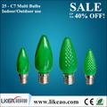 venta directa de facted c7 led verde decorativas de navidad de la lámpara de la empresa