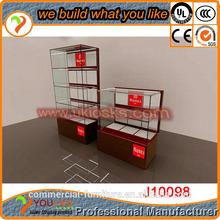Aluminum Frame High End Jewelry Display Showcase High back display cabinet