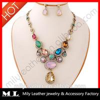 Custom Necklace Earring Set wholesale jewelry set MLJS 052