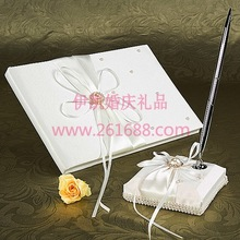 """Eternity "" White Guestbook and Pen Set Wedding Guestbook and Pen Set Wedding party accessories in stocks"