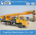 mini 8 ton hidráulica zoomlion baratos pequeno elevador caminhão camião grua com motor a diesel para a venda