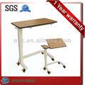 Durável de madeira dobrável hospital cama mesa de rolamento, mesa reguláveis de de a cama