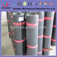 Polyester reinforced polyethylene film torched on sbs modified bitumen waterproof wall membrane