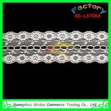 Fashion clothing accessories stretch lace elastic trim for lady garment