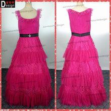 Surmount Real Sample 2014 Specil Design Cap Sleeve Arabic Evening Dress Peach Color